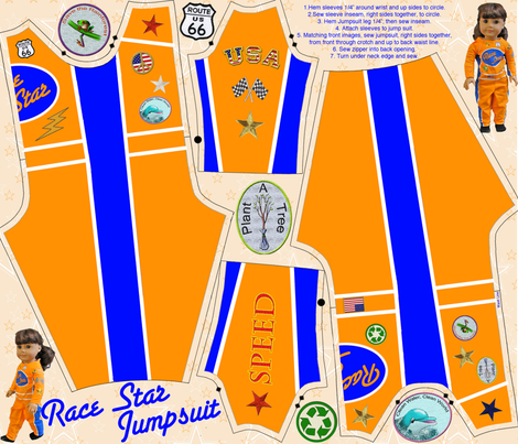 Race Star fabric by jumping_monkeys on Spoonflower - custom fabric