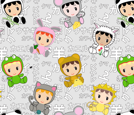 kawaii-baby fabric by jmckinniss on Spoonflower - custom fabric