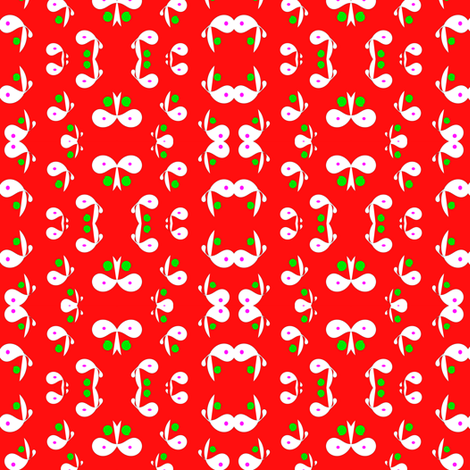 red_flowers fabric by angelgreen on Spoonflower - custom fabric