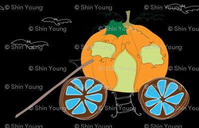 abandoned pumpkin carriage