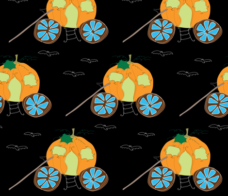 abandoned pumpkin carriage fabric by shiny on Spoonflower - custom fabric