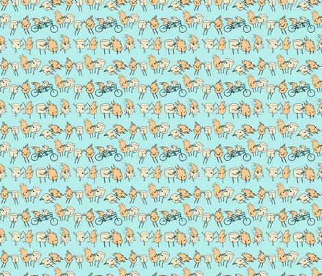 toasted marshmallows fabric by babysisterrae on Spoonflower - custom fabric