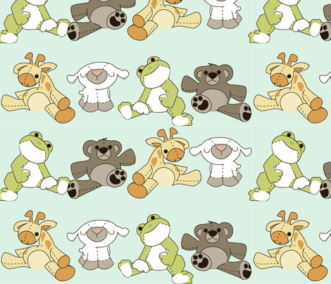I'm stuffed! fabric by ttoz on Spoonflower - custom fabric