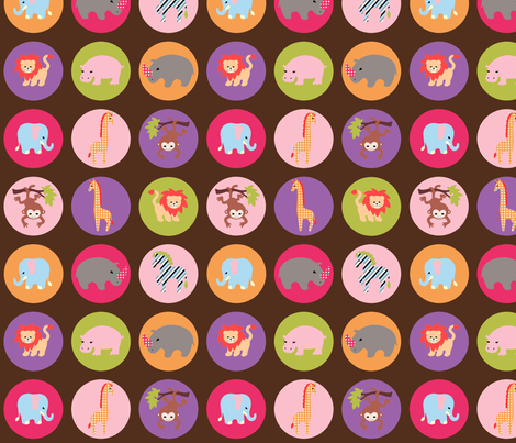 safari dots alternate color fabric by mytinystar on Spoonflower - custom fabric
