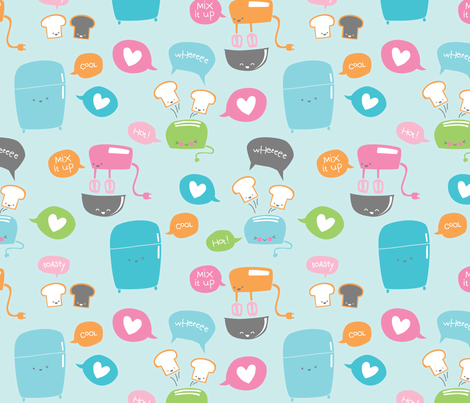 punny_kawaii fabric by rhymeswithfun on Spoonflower - custom fabric