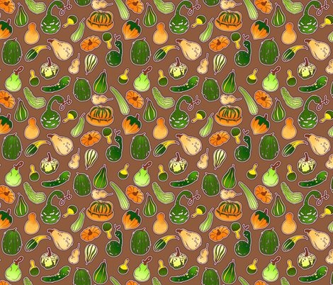 Gourds fabric by jadegordon on Spoonflower - custom fabric