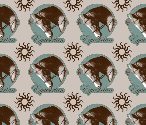 Vintage-Style Equestrian Horses fabric by ravenwoodstudiodesigns on Spoonflower - custom fabric