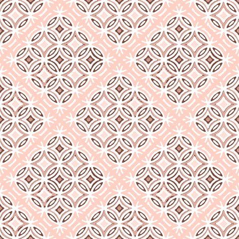 Lattice in Blush fabric by joanmclemore on Spoonflower - custom fabric