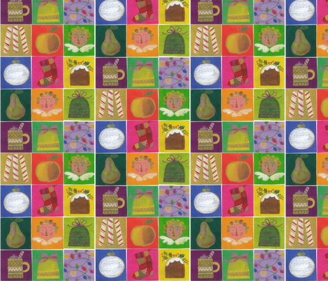 Christmas Cheer  fabric by nsta on Spoonflower - custom fabric