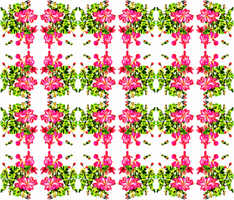 Jody's Geraniums fabric by robin_rice on Spoonflower - custom fabric