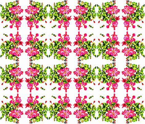 Jody's Geraniums fabric by robin_rice on Spoonflower - custom fabric