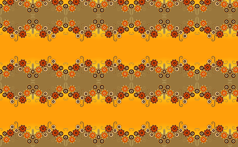 Calicoette Sunset fabric by joanmclemore on Spoonflower - custom fabric