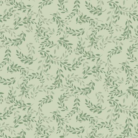 Leaf Wreath fabric by jpfabrics on Spoonflower - custom fabric