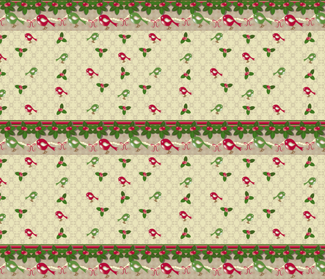 Holiday Birds 03 fabric by deesignor on Spoonflower - custom fabric