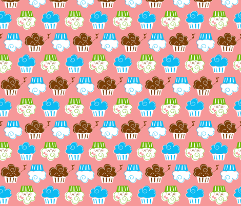 Cupcakes fabric by malien00 on Spoonflower - custom fabric