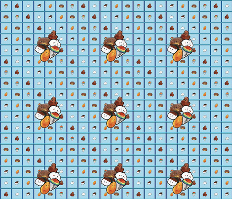 Crackseed Folks fabric by hakuai on Spoonflower - custom fabric