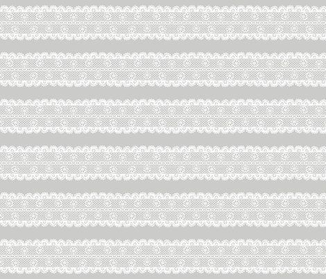 Floral Lace Stripe fabric by leighr on Spoonflower - custom fabric