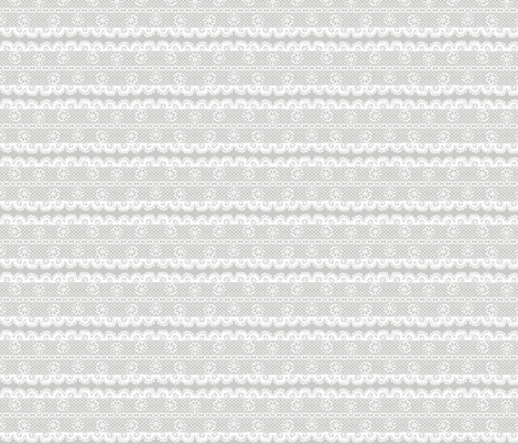 Floral Lace Stripe (tight) fabric by leighr on Spoonflower - custom fabric