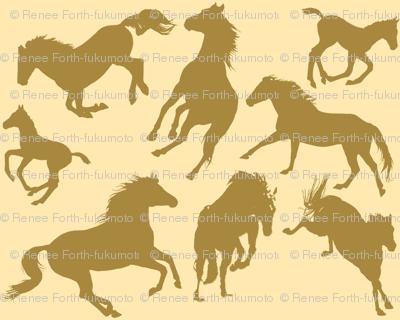 Horse Dreams Golden Horses