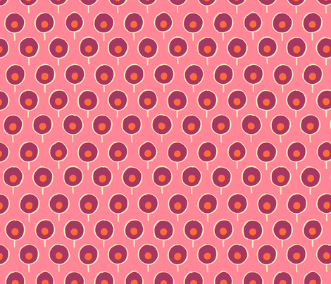 Mod Trees Pink  fabric by paper_pie on Spoonflower - custom fabric