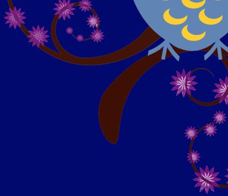 Owl at Night fabric by netti on Spoonflower - custom fabric