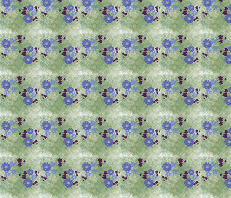 BlueandBurgandyFlower_jpeg2 fabric by snooky on Spoonflower - custom fabric