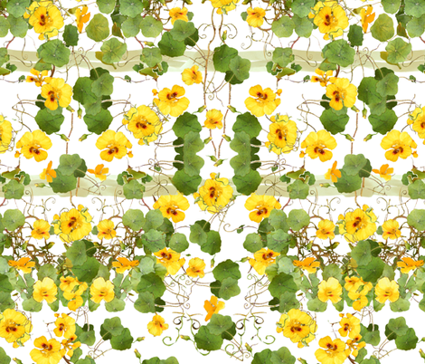 Nasturtium Chair Cover fabric by wren_leyland on Spoonflower - custom fabric