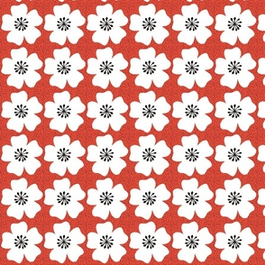 Dotty Floral - Flame