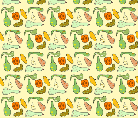 Spotted gourds fabric by kiwiandsteve on Spoonflower - custom fabric