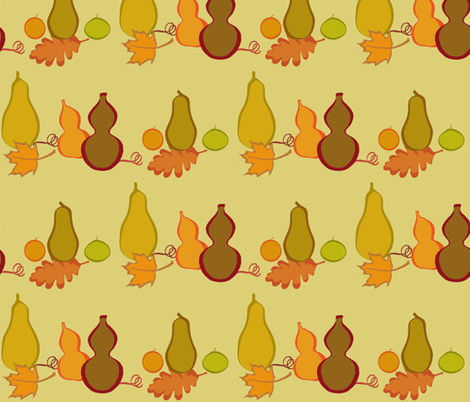Fall Gourds fabric by oranshpeel on Spoonflower - custom fabric