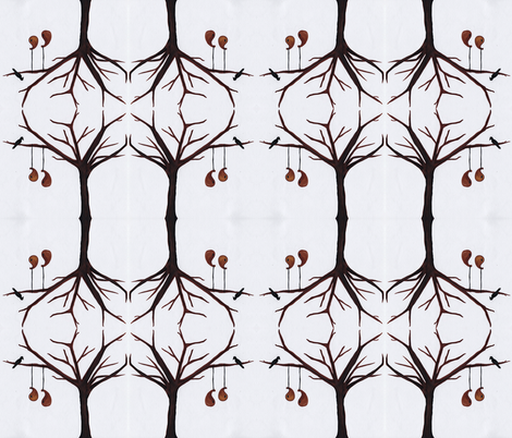 gourds in a tree fabric by luluhoo on Spoonflower - custom fabric
