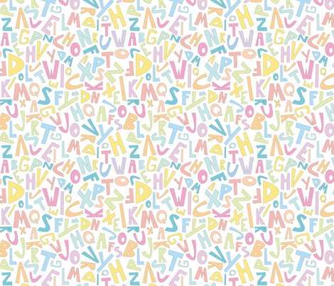 Alphabet Fun Time fabric by wildnotions on Spoonflower - custom fabric