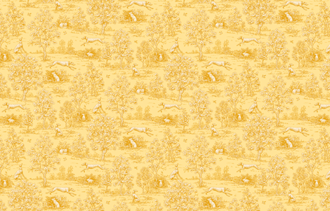 Golden Reverse Greyhound Toile ©2010 by Jane Walker fabric by artbyjanewalker on Spoonflower - custom fabric