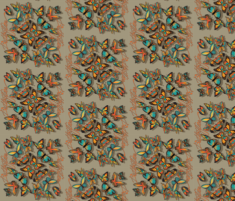 Fallbutterflies fabric by leslipepper on Spoonflower - custom fabric