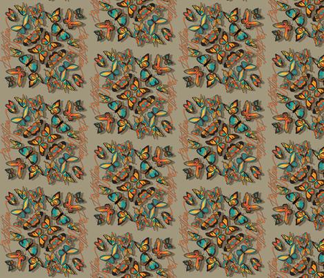 Fallbutterflies fabric by leslipepper on Spoonflower - custom fabric