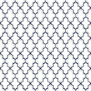 White Tangier Lattice Sm