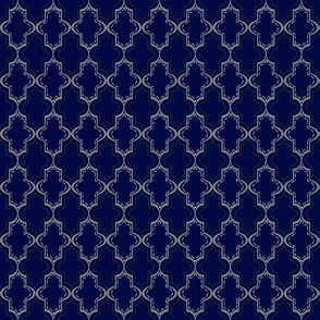 Blue Tangier Lattice- Sm