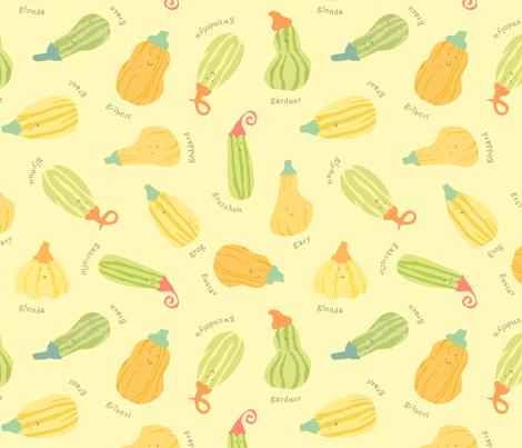 Gourd Family Gathering fabric by cathyheckstudio on Spoonflower - custom fabric