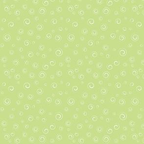 Swirly Curly  Green
