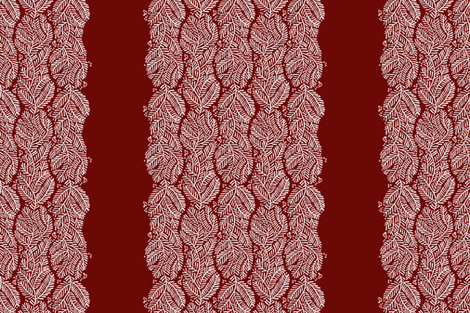 arborvitae - border red fabric by monmeehan on Spoonflower - custom fabric