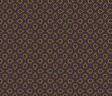 Amoeba Paisley fabric by pixeldust on Spoonflower - custom fabric