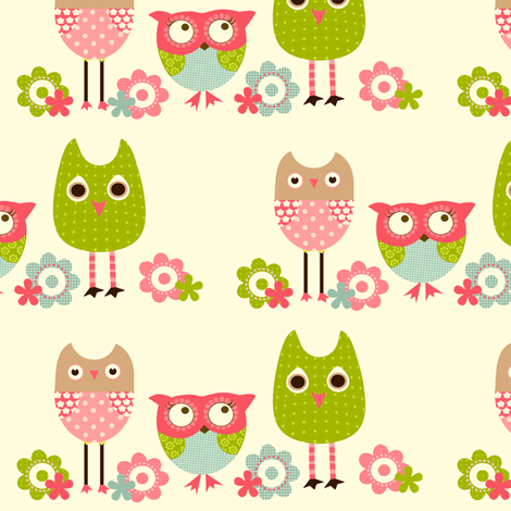 Whimsy Owls fabric by natitys on Spoonflower - custom fabric