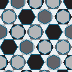 Hexagons  (Small Blue)