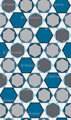 Hexagons (Big Blue)