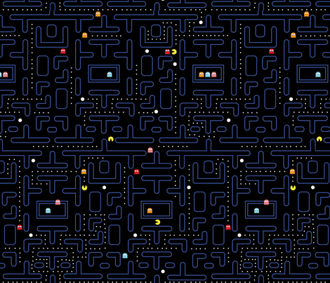 Mock Pacman 1.0 (original) fabric by pixeldust on Spoonflower - custom fabric