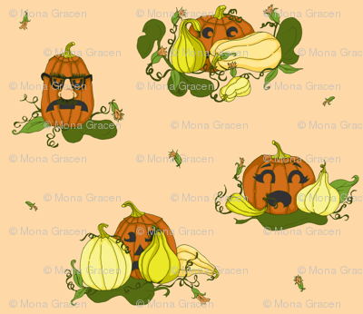 Pumpkins Undercover - Peach