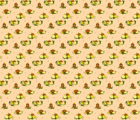 Pumpkins Undercover - Peach fabric by lulakiti on Spoonflower - custom fabric