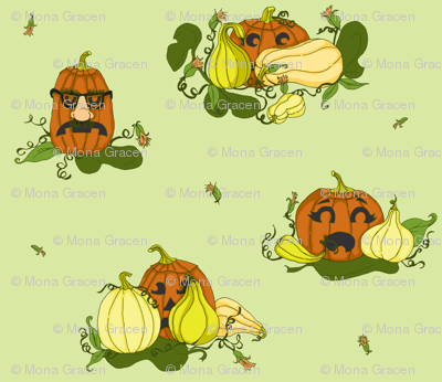 Pumpkins Undercover - Light Green