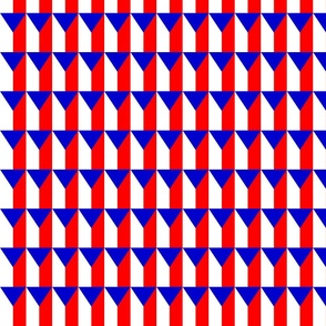 Czech flag pattern