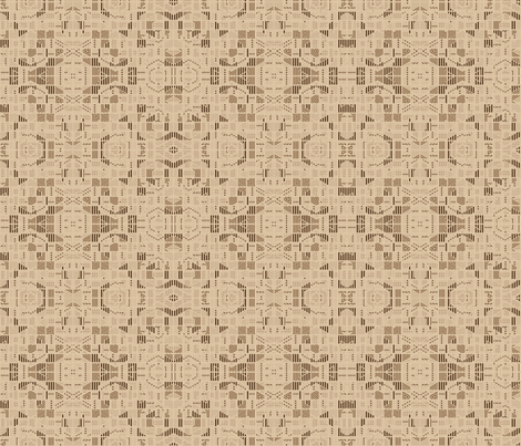 Very Geometric Beige © Gingezel™ 2011 fabric by gingezel on Spoonflower - custom fabric